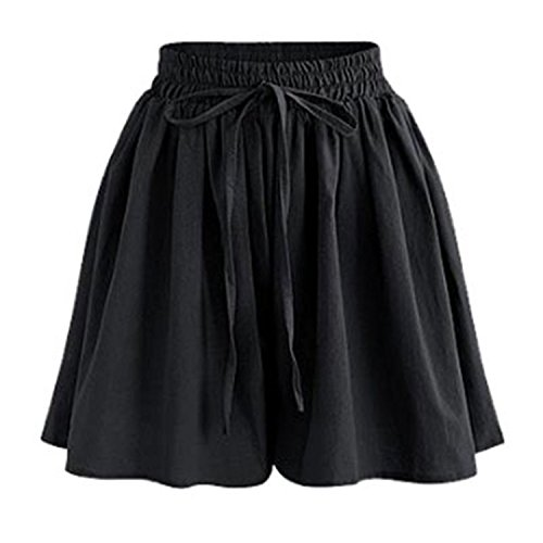 Lokouo Nice Women Wide Leg Shorts Chiffon Shorts Skirts Ladies -