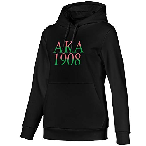Alpha Kappa Alpha Womens 100% Cotton Long Sleeves Pocket Leisure Sweatshirt Top