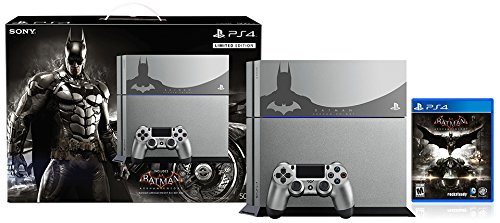 - PlayStation 4 500GB Console - Batman Arkham Knight Bundle Limited Edition[Discontinued]
