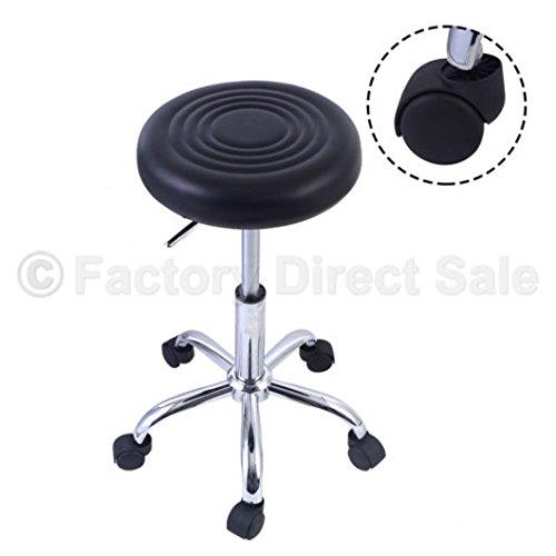 Black Adjustable Hydraulic Rolling Swivel Stool Tattoo Facial Massage Spa Salon by Unknown (Image #1)