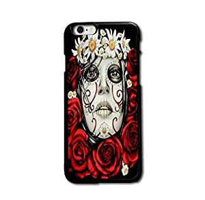 Retro Flower Skull Cool Design For HTC One M7 Personality Design