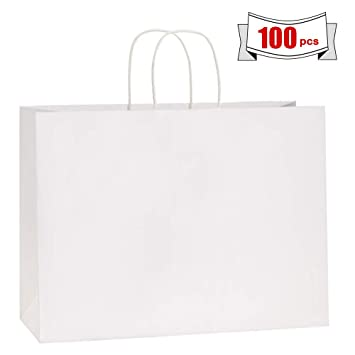 Amazon.com: BagDream 100 bolsas de papel kraft de 16.0 x 6.0 ...
