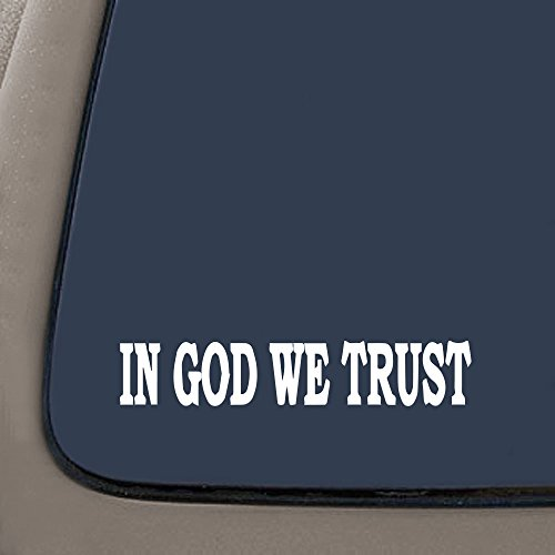 NI173-In-God-We-Trust-Tea-party-SECOND-AMENDMENT-85x15-Inch-Premium-Quality-Decal-STICKER-Christian