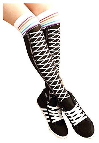 Zebra Knee Socks - 9