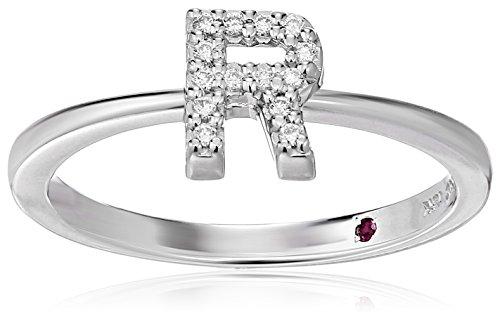 Roberto Coin Women's 001634AWLRXR Diamond Initial Ring, White, Size 7 ()