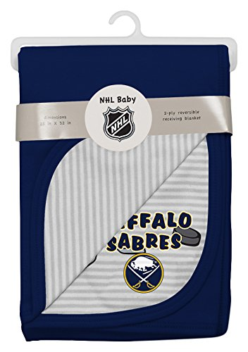 NHL Buffalo Sabres Layette Newborn Lil Center Blanket, One Size, Cool (Nhl Baby Blanket)