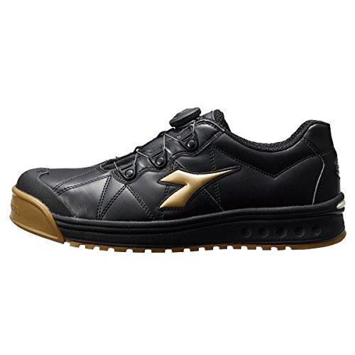 (セーフティシューズ DIADORA ディアドラ) FINCH(フィンチ) FC-292 (カラー) ブラック/ゴールド/ブラック (サイズ)28cm EEE B077JP6P69