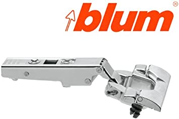 Blum 79T9990B37 Nickel CLIP Top CLIP Top Full Overlay INSERTA Blind Corner Cabinet Door Hinge with 95-Degree Opening Angle and Self Close Function