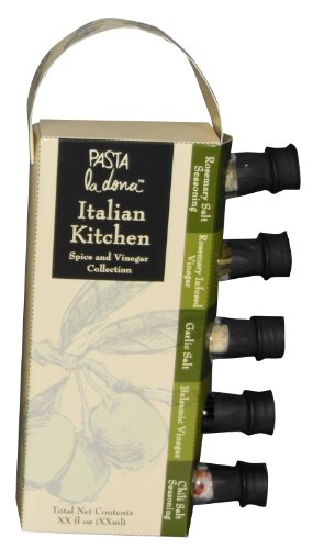 Pasta Balsamic Italian (MSRF Pasta Ladona Variety Pack, Italian Kitchen Spice and Vinegar, 5 Bottle Set, 7.8 Ounce Net Wt)