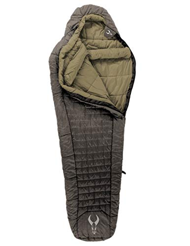 Badlands Cinder Synthetic Sleeping Bag with Soft Fabric for Comfort in Extreme Conditions – 10 Long