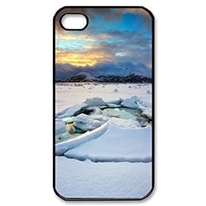 Cathyathome Ice IPhone 4/4s Case Ice Sheet Cheap for Girls, Iphone 4 Cases for Girls Cheap for Girls [Black]