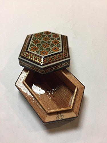 Art Persian Miniature (master made decorative trinket gold box Persian miniature INLAID)