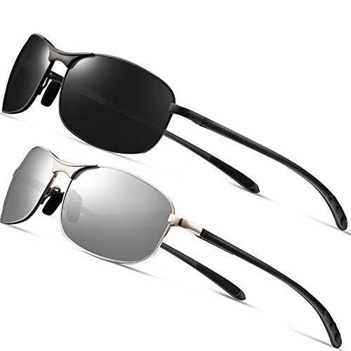 Rectangular Sport Polarized Sunglasses Men