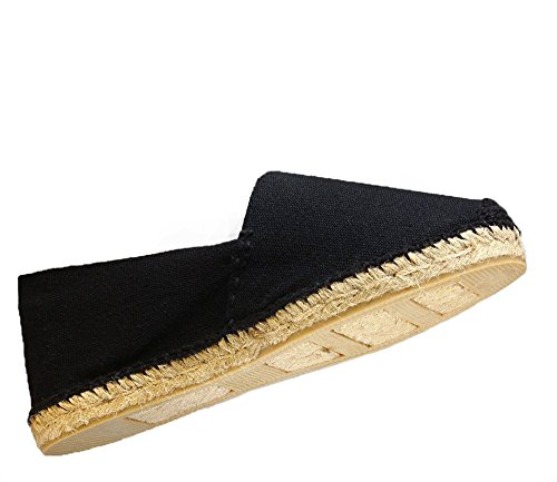 Thread Spain Diegos black Black Hand Espadrilles Women's Men's Made In wYr8FzYxq