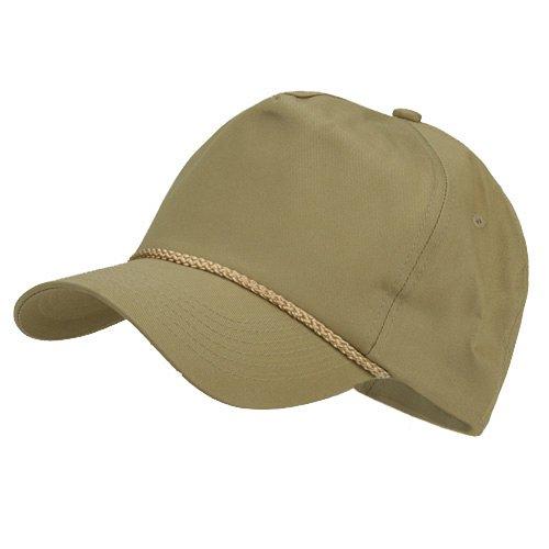 Cotton Twill Golf Cap - Khaki