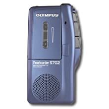 Olympus S-702 Pearlcorder Microcassette Recorder - Blue Color