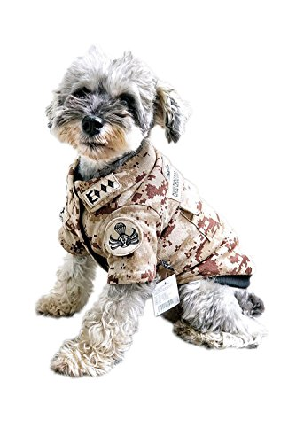 Uniquorn 2016 New Autumn And Winter Pet Clothes Fashion Handsome Pet Dog Camouflage Warm And Comfortable Dog (70s Cop Costume)