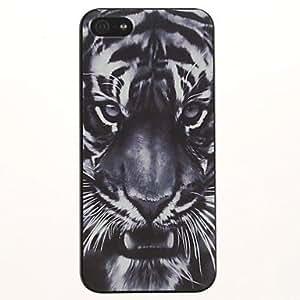 Modelo del tigre gris PC caso duro para el iPhone 5/5S