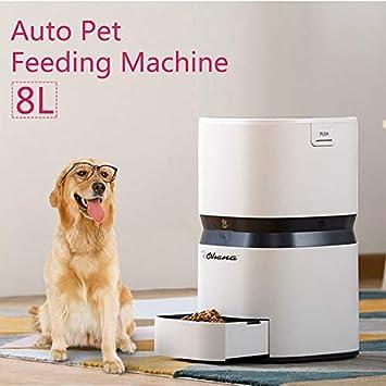 Uniqus 8L alimentador Inteligente dispensador automático de Comida para Gatos y Perros Gran Capacidad con grabadora