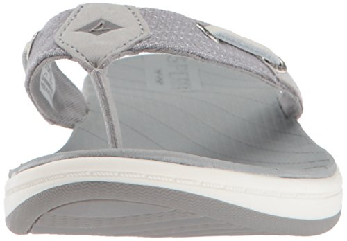 Us Surf tone Grey Flat Sandal Sperry Seabrook Medium Two Women's 5 qnBwxEfav