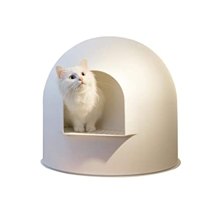 Coseyil Cajas de Arena Caja de Arena para Gatos Completamente Cerrada en Forma de Inodoro Extra