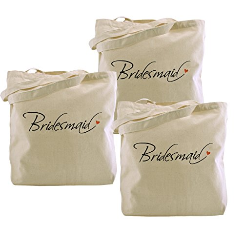 (ElegantPark Bridesmaid Tote Bag Wedding Bridesmaid Gifts 100% Cotton 3)