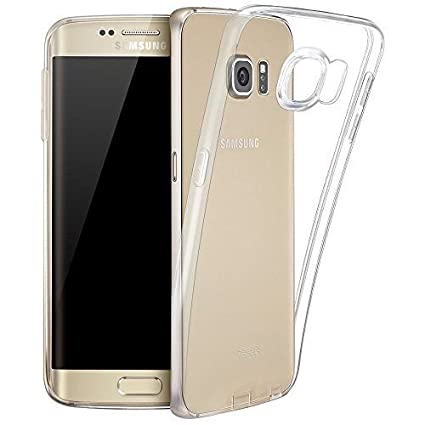 hot sale online 3a19f c0495 Samsung Galaxy S7 Edge Cover Silicone Case Jelly Clear Transparent Flexible  Soft TPU Slim Silicon Back Cover for Samsung S7 Edge