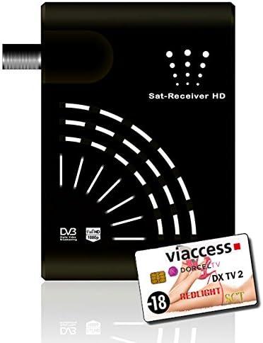 Tarjeta de suscripción de 4 Canales Redlight Dorcel SCT DX TV + decodificador satélite FTA: Amazon.es: Electrónica