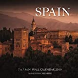 Spain 7 x 7 Mini Wall Calendar 2019: 16 Month Calendar