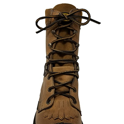 TOFL Logger Leather Boot Laces--A pair and A spear--3 Leather Boot laces each 54 Inch Long, Midnight Brown (54 inch midnight) by Tofl (Image #1)