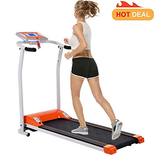 Fitness Folding Electric Support Motorized Power Jogging Treadmill Walking Running Machine Trainer Equipment [US Stock] (1.5 HP - Orange - Not with APP Control) by Miageek (Image #7)