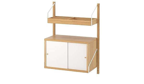 IKEA.. 391.844.56 Svalnäs Wall-Mounted Storage Combination, bambú, Color Blanco: Amazon.es: Hogar