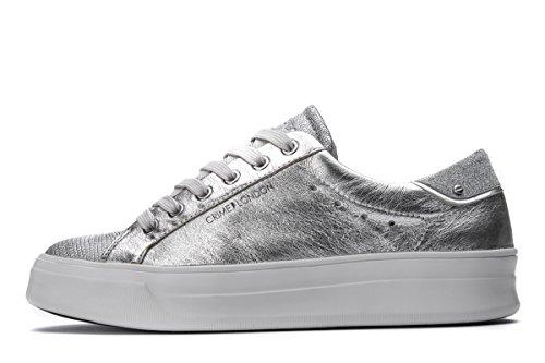 Unbekannt Crime 25602KS1 Sneakers Damen Silber / Schwarz
