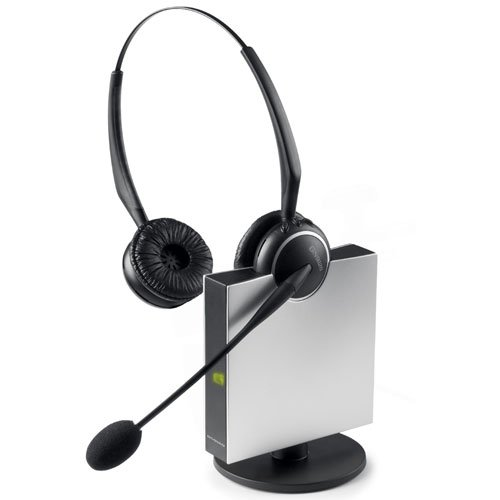 Brand New Gn Netcom A/S - Gn Gn9125 Duo Flex Headset - Wireless Connectivity - Stereo - Over-The-Head, Over-The-Ear