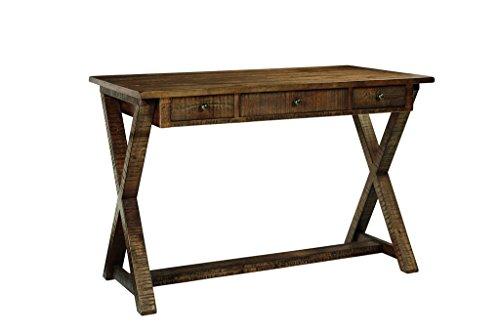 Ashley Furniture Signature Design – Minbreeze Home Office Leg Desk, Large, Medium Brown For Sale