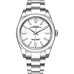 Best Epic Trends 41PmQX%2Bf7mL._SS300_ Men's Rolex Oyster Perpetual 39 White Dial Watch - Ref. 114300