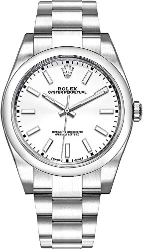 Men's Rolex Oyster Perpetual 39 White Dial Watch - Ref. 114300