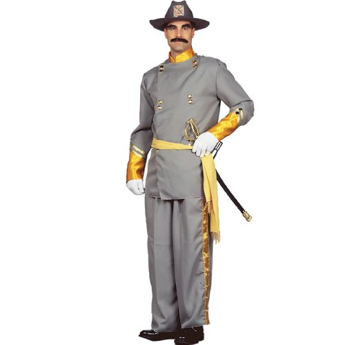 Adult Confederate Soldier Costumes - Peter Alan Confederate General Adult Gray Large