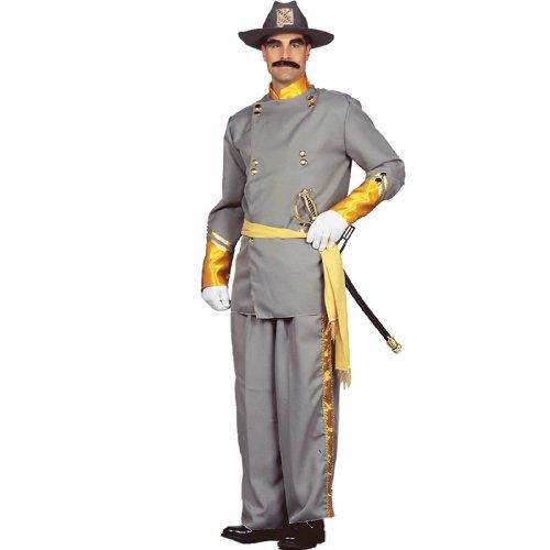 Civil General Costume War Confederate (Peter Alan Confederate General Adult Gray)