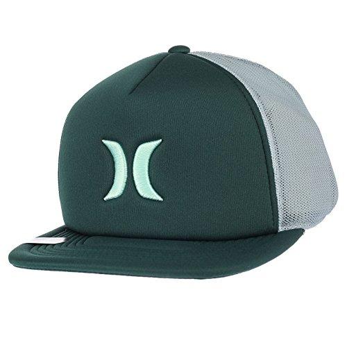 ~ Hurley Gorra verde de Snapback Bloqueado 3 0 pico plano rXf1aX