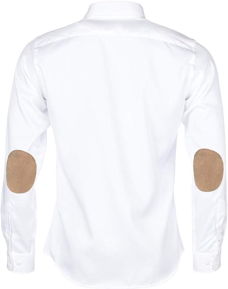 ALLBOW - Camisa para hombre (manga larga, 100% algodón), color ...