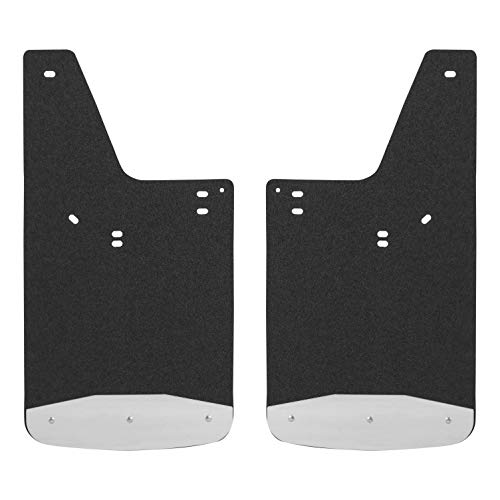 LUVERNE 250423 Front or Rear Textured Rubber Mud Guards Black 12-Inch x 23-Inch Select Ford F-150, Lincoln Mark LT (Textured Front Flap)