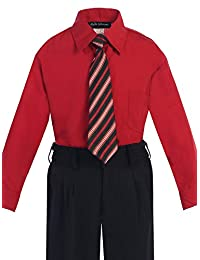 Bello Giovane Boys Dress Shirt with Tie Set Size 2T-20