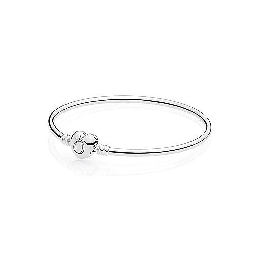 venta más caliente 2019 real precio de descuento Pandora Pulsera Rígida Cierre de Corazón 21 cm: Amazon.es ...