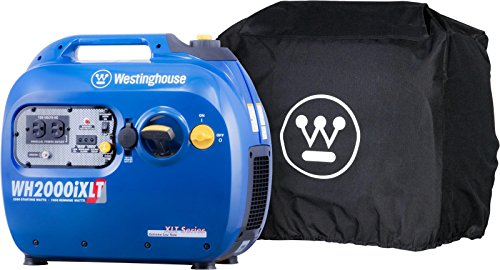 Westinghouse WH2200iXLT Inverter Generator with All-Weather Cover - 1800 Rated Watts and 2200 Peak Watts - Gas Powered - CARB Compliant