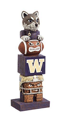 Evergreen NCAA Washington Huskies Tiki Totem