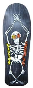 Vision Groholski Skeleton Reissue Skateboard Deck, Black, 10.25 x 30-Inch