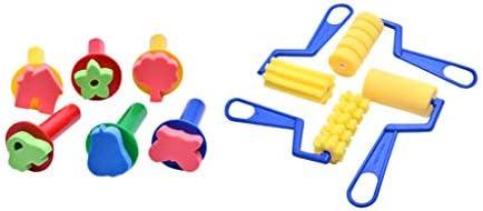 ペイントブラシ スポンジ デッサン用 フォームブラシ 吸水性 教育用 フォーム 知育玩具 プレゼント 約27個入り