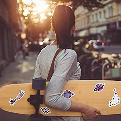 Stickers for Water Bottles Japanese Stickers 40pcs Cute Fashion Stickers for Laptop Phone Guitar Skateboard Luggage Travel Suitable for Kids Teens Girls (Mysterious Planet): Kitchen & Dining