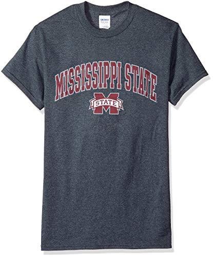 Elite Fan Shop NCAA Men's Mississippi State Bulldogs T Shirt Dark Heather Arch Mississippi State Bulldogs Dark Heather Medium